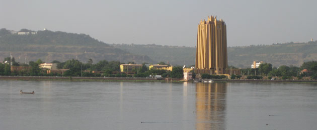Bamako skyline with BCEAO head office